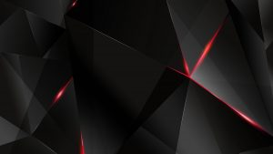 4K Black Wallpapers for Windows 10 - #02 of 10 - Black and Red 3D Polygons