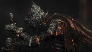 4K Black Wallpapers for Windows 10 - #06 of 10 - Dark Souls of Warrior