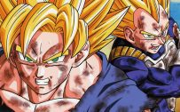 Best 20 Pictures of Dragon Ball Z – #11 – Son Goku and Vegeta Fighting in Super Saiyan Form