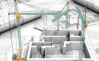 Civil Engineering Desktop Wallpaper in HD 1080p – 09 of 10 – Building Plans Illustration in 3D