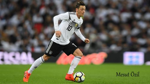 Mesut Özil wears 2018 German Football Jersey for World Cup