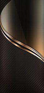 OnePlus 6 Background with Dark Gold Elegant Wallpaper