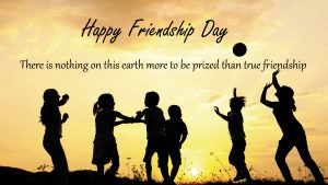 Picture for Happy Friendship Day with Children on Silhouette