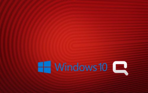 Windows 10 OEM Wallpaper for HP Compaq Laptops 6 of 6 - with Logo