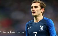 Antoine Griezmann with 2018 France Football Team Jersey for World Cup