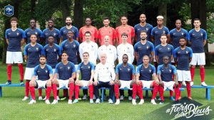France Football Team 2018 with Home Jersey for Russia World Cup