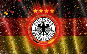 Germany National Team Logo with Flag in Abstract