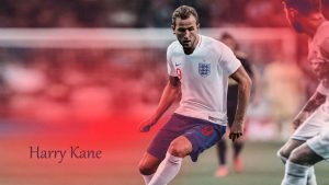 Harry Kane with England National Football Jersey for Russia 2018 FIFA World Cup