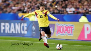 James Rodríguez with Colombia National Football Jersey for Russia 2018 FIFA World Cup