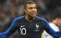 Kylian Mbappé with 2018 France Football Team Jersey for World Cup