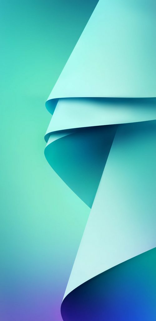 Samsung Galaxy J6 Wallpaper in 3D Tosca Background