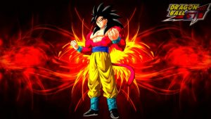Dragon Ball GT Wallpaper with Son Goku Super Saiya 4 Transformation