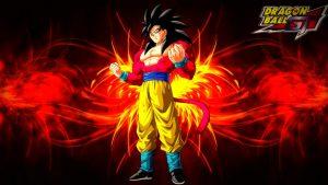 Dragon Ball GT Wallpaper with Son Goku Super Saiya 4 Transformation