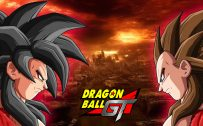 Dragon Ball GT Wallpaper with Son Goku and Vegeta