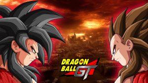 Dragon Ball GT Wallpaper with Son Goku and Vegeta