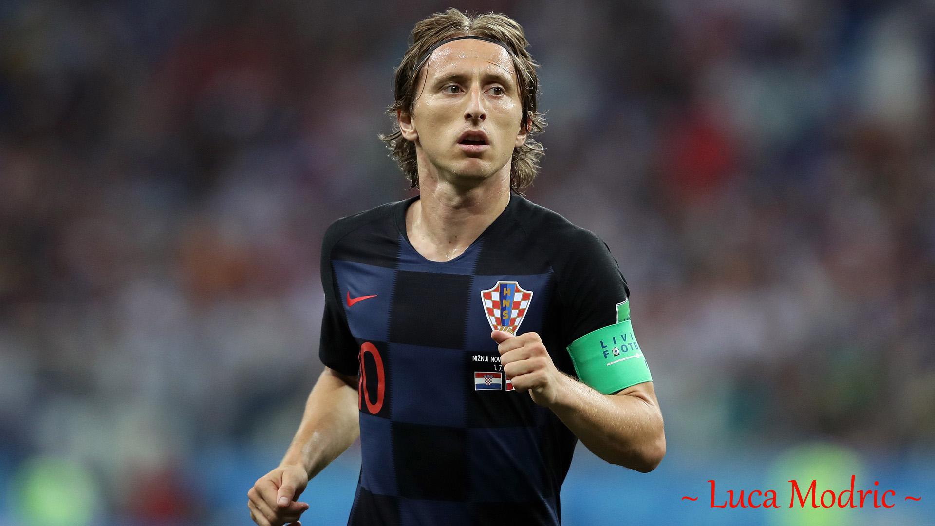 Luka Modrić in FIFA 2018 Russia World Cup with Croatian National Team Jersey for Desktop ...