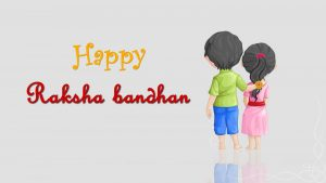 Simple Wallpaper for Happy Raksha Bandhan Greeting Card