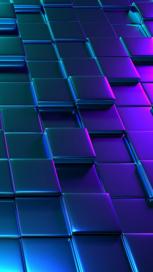 3D Block Patterns Wallpaper for Smartphone Screen