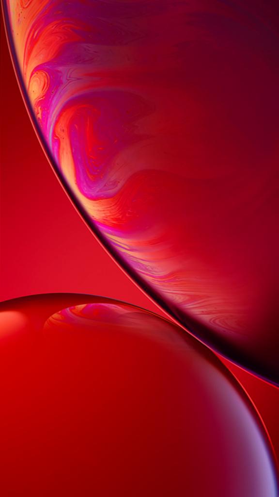 Download Original Apple iPhone XR Wallpaper - 06 - Red ...