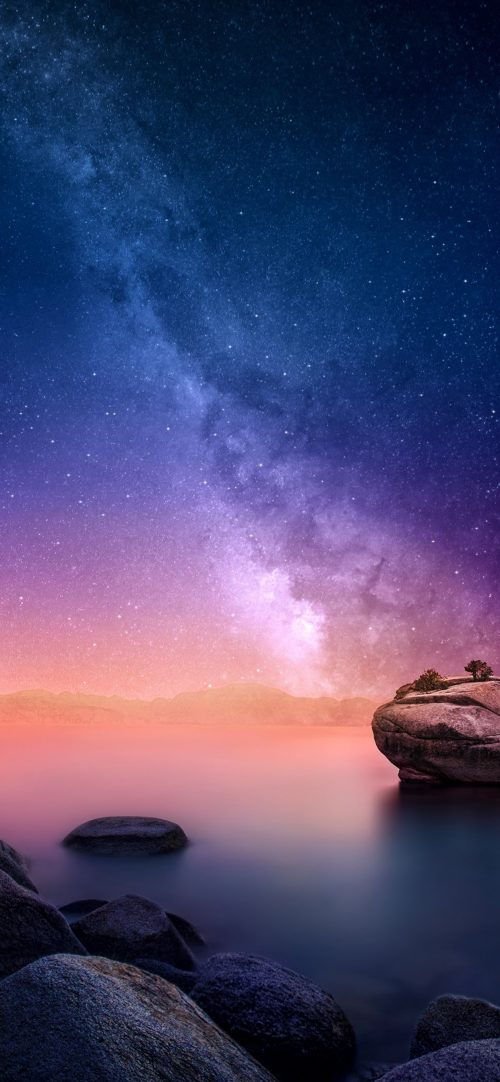 Top 10 Best Alternative Wallpaper for Apple iPhone XS Max 08 of 10 - Galaxy on Sky