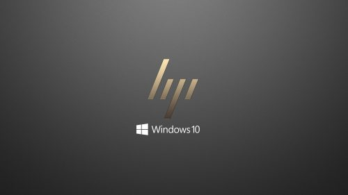 Windows 10 OEM Wallpaper for HP Laptops 01 0f 10 - Dark Grey Background