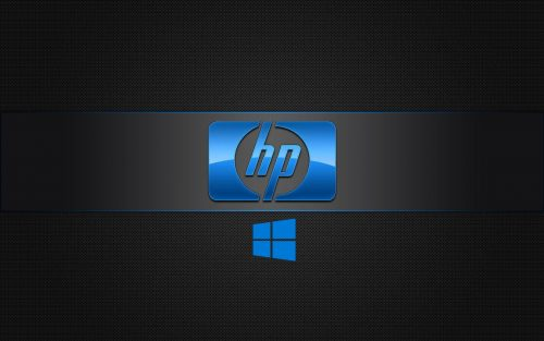 Windows 10 OEM Wallpaper for HP Laptops 05 0f 10 - Dark Background with 3D Logo