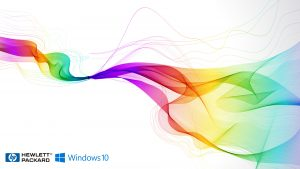 Windows 10 OEM Wallpaper for HP Laptops 08 0f 10 - HP and Windows 10 Logo in Colorful Background