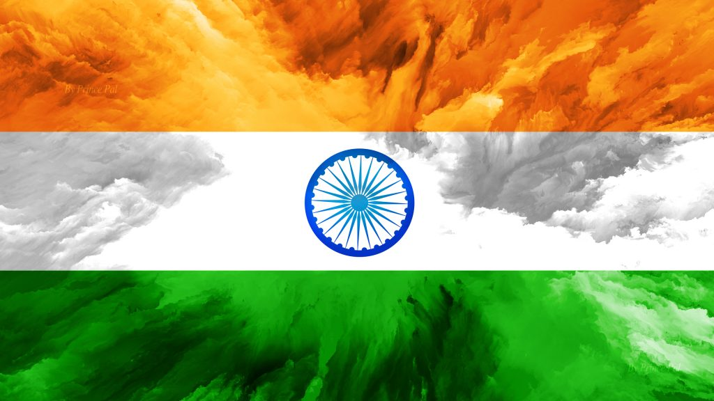India Flag Hd Art: Abstract Art Stye Of India Flag Wallpaper