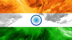 Abstract Art Stye of India Flag Wallpaper