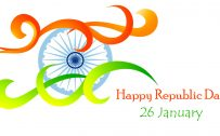 Creative Wallpaper with India Flag for Republic Day