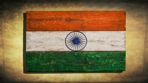 Vintage Wood Painting with India Flag Art for Republic and Independence Day