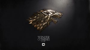Game of Thrones Wallpaper 04 of 20 - House Stark of Winterfell Logo in 3D Gold