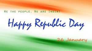 Happy Republic Day Wallpaper with Message
