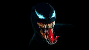 Venom Character Wallpaper with Dark Background