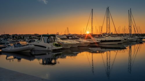 Beautiful Morning Wallpaper with Picture of Vodice Ferry Port