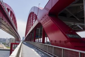 High Resolution Picture of Kobe Ohashi Bridge in Japan