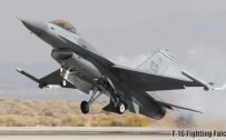 Fighter Jet Wallpaper with F-16 Fighting Falcon Take Off