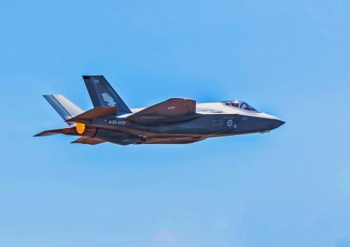 Fighter Jet Wallpaper with F-35A Joint Strike Fighter in the Royal Australian Air Force