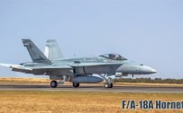 Fighter Jet Wallpaper with FA-18A Hornet on Runaway