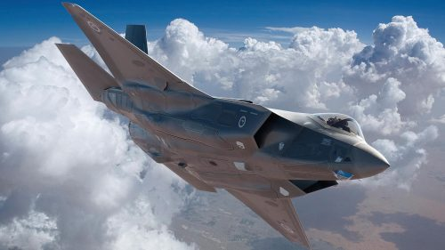 Fighter Jet Wallpaper with Photo of F-35A Joint Strike Fighter in The Sky