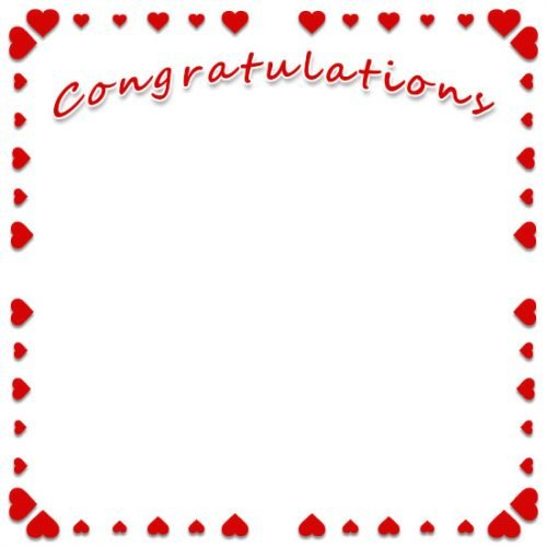 Free clip art congratulations with heart border