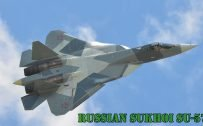 Fighter Jet Wallpaper with Russian Sukhoi SU-57