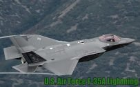 Fighter Jet Wallpaper with US Air Force F35A Lightning II Aircraft