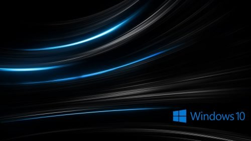 Windows 10 wallpaper HD 3D for Desktop with Abstract Black Background