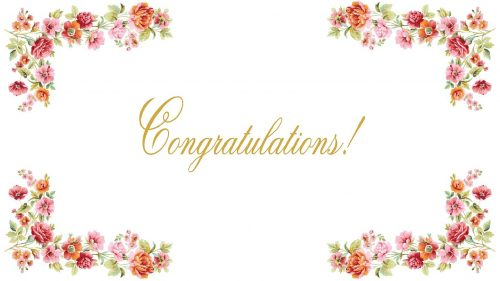 congratulations images free download with flower border