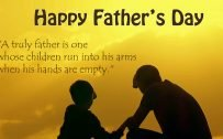 Happy Fathers Day Wallpaper with Picture of Father and Son Silhouette