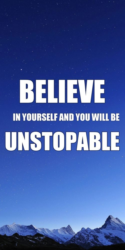 Quotes Wallpaper for Mobile about Believe in Yourself