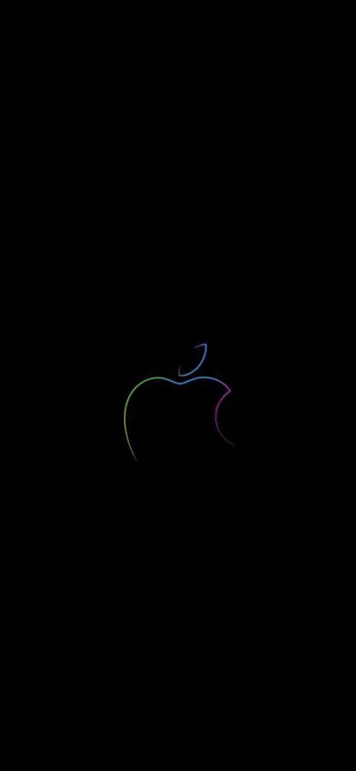 10 Alternative Wallpapers for Apple iPhone 11 - 01 - Dark Background and Logo