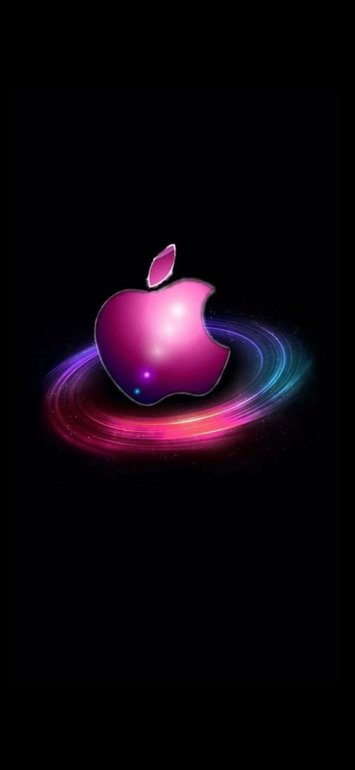 10 Alternative Wallpapers For Apple Iphone 11 02 Dark Background And Colorful Logo Hd Wallpapers Wallpapers Download High Resolution Wallpapers