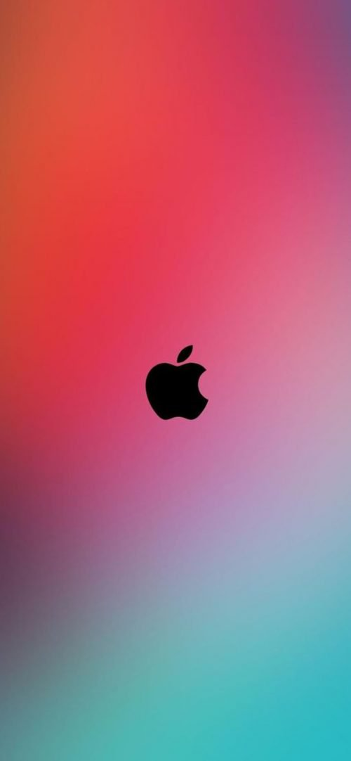 10 Alternative Wallpapers for Apple iPhone 11 - 03 - Simple Colorful Background with Logo